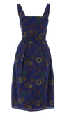 The Domestic Dame - Camille Dress - navy blue floral