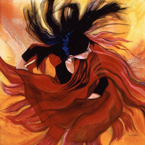 Flamenco Dancer Painting. La Alegria de Dios es Mi Fuerza! (The Joy of the Lord is My Strength !)