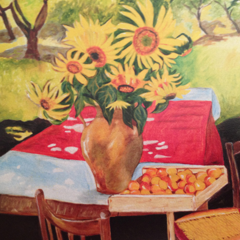Sunflower Painting. Ahhh……Provence !