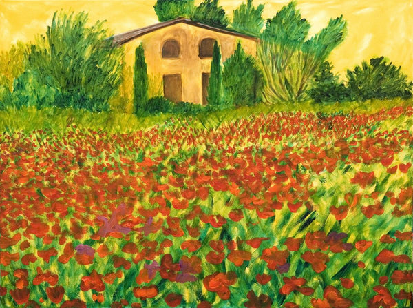 Poppy Painting. Beautiful Bonnieux