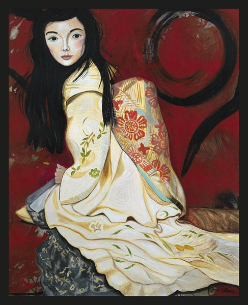 Japanese Lady Painting. Peace in Yeshua