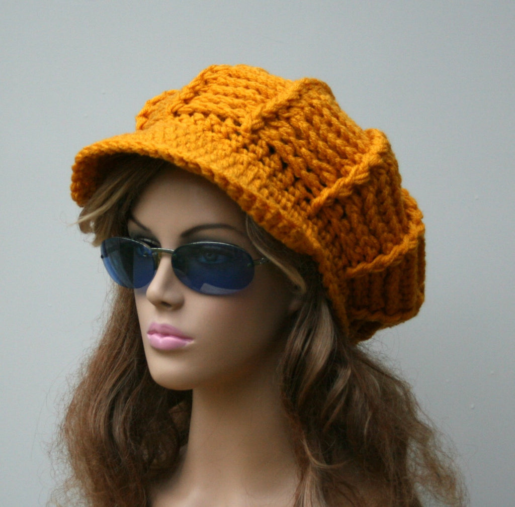 Choose from many colors Custom Visor hat slouchy beanie Newsboy cap crochet handmade