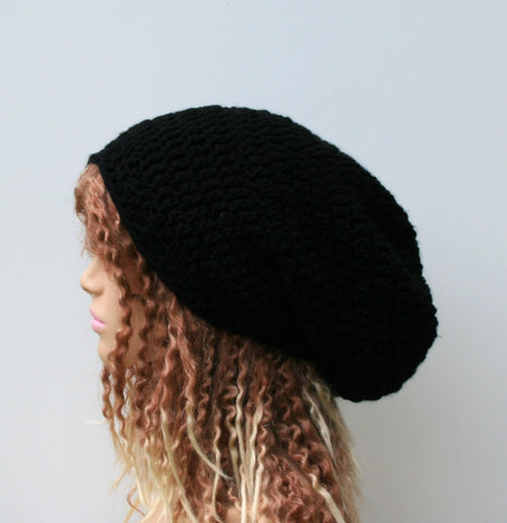 Very slouchy beanies (or dread tam hats for medium dreads)
