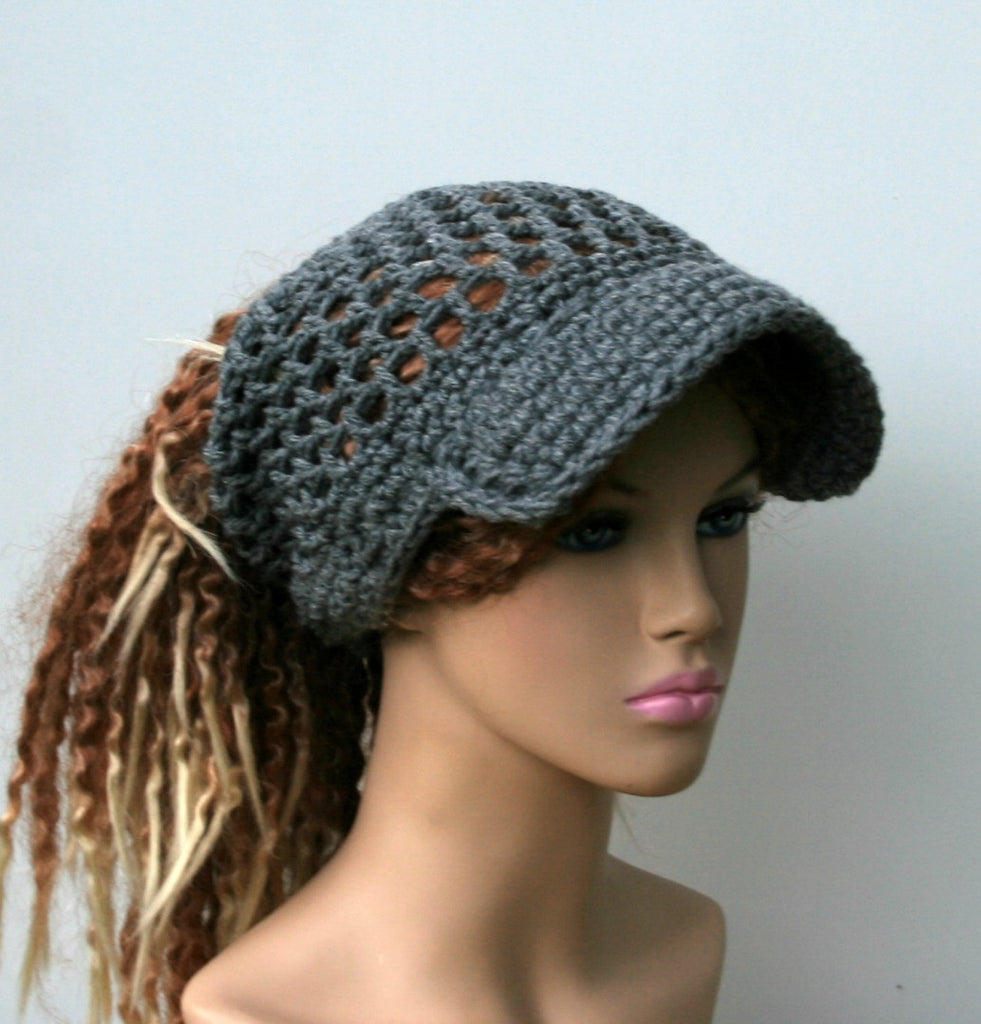Open stitch custom color Ponytail hat b08887d61a5
