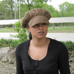 Pick your color Visor Tam Hat Hippie Newsboy slouchy beanie thick custom made