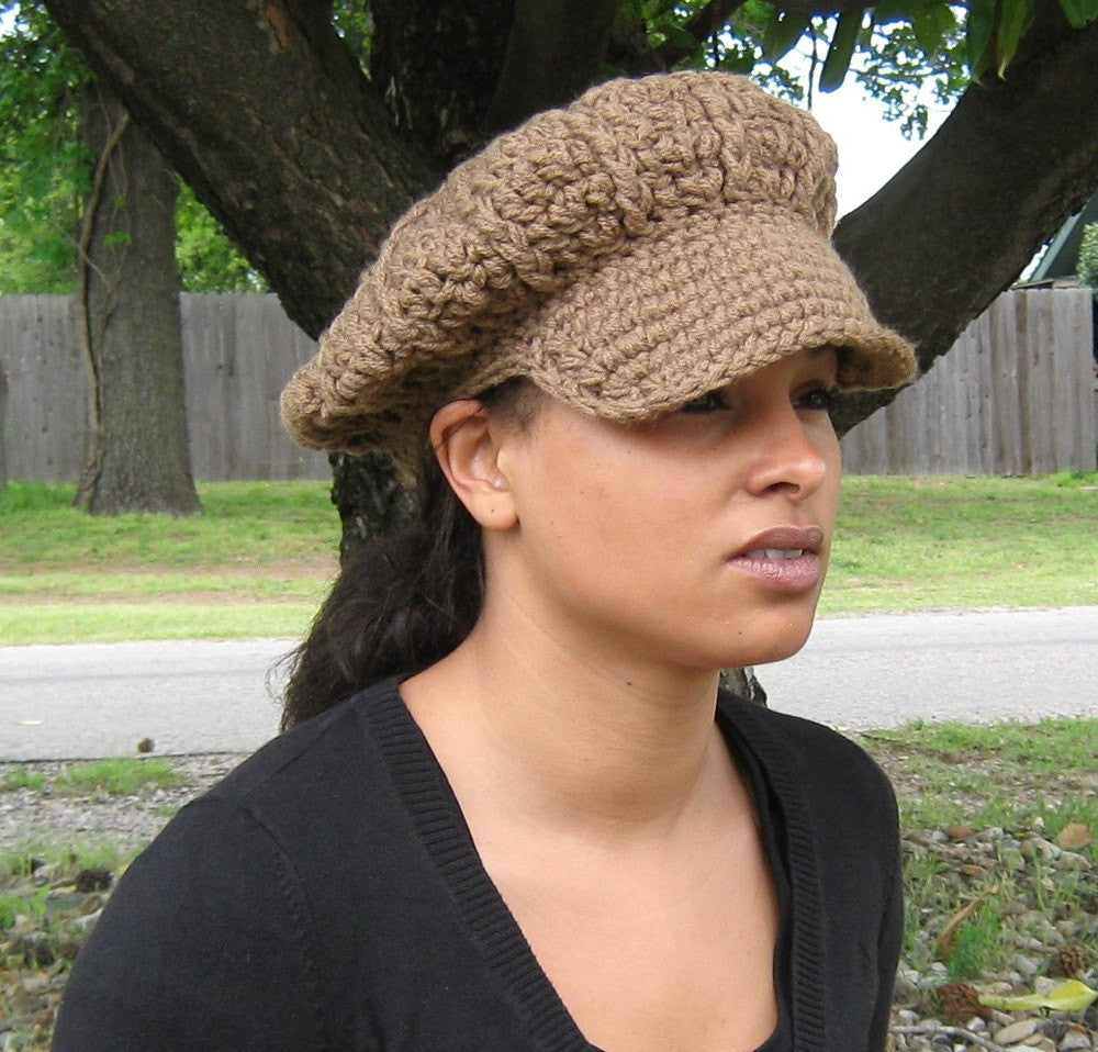 1960f9cb Pick your color Visor Tam Hat Hippie Newsboy slouchy beanie thick custom  made