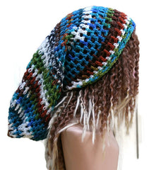 Dreadlocks hat, Very long hat, Dread Tam hat, Slouchy Beanie, Hippie slouch Hat