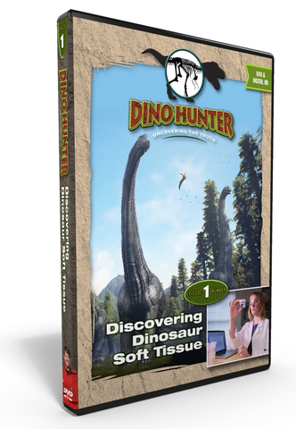 "Dino Hunter ""Discovering Soft Dinosaur Tissue"" DVD Ep1"