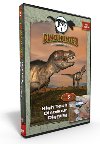 "Dino Hunter ""High Tech Dinosaur Digging"" Ep3 DVD"