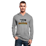 Dino Hunter Hoodie Shirt - T-Rex - heather gray