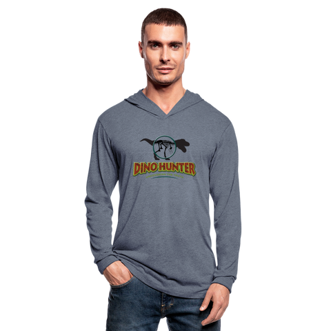 Dino Hunter Hoodie Shirt - T-Rex - heather blue