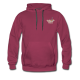 Awesome Science Media Hoodie - Star burst Psalm 19:1 - burgundy