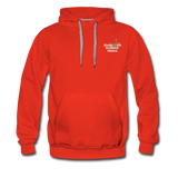 Awesome Science Media Hoodie - Star burst Psalm 19:1 - red