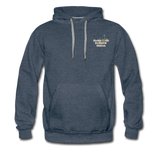 Awesome Science Media Hoodie - Star burst Psalm 19:1 - heather denim