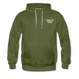 Awesome Science Media Hoodie - Star burst Psalm 19:1 - olive green