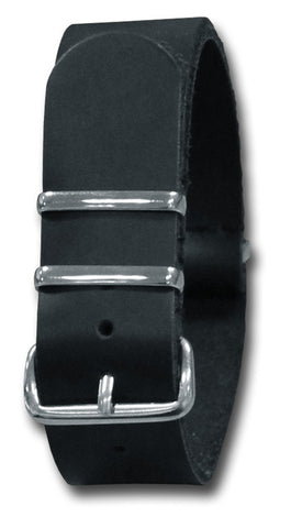 LEATHER NATO STYLE WATCH STRAP