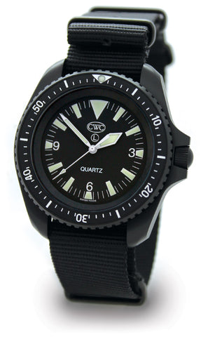 CWC BLACK DIVERS QUARTZ WATCH