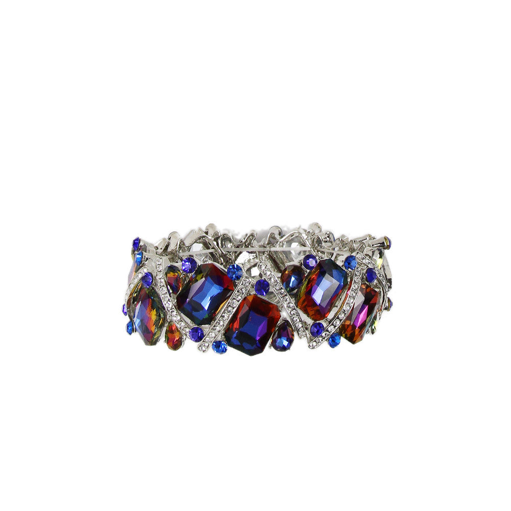 Geometric Crystal Stretch Bracelet - hoopsbaby.com