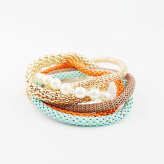 Multi Chains & Pearl Bracelet - hoopsbaby.com