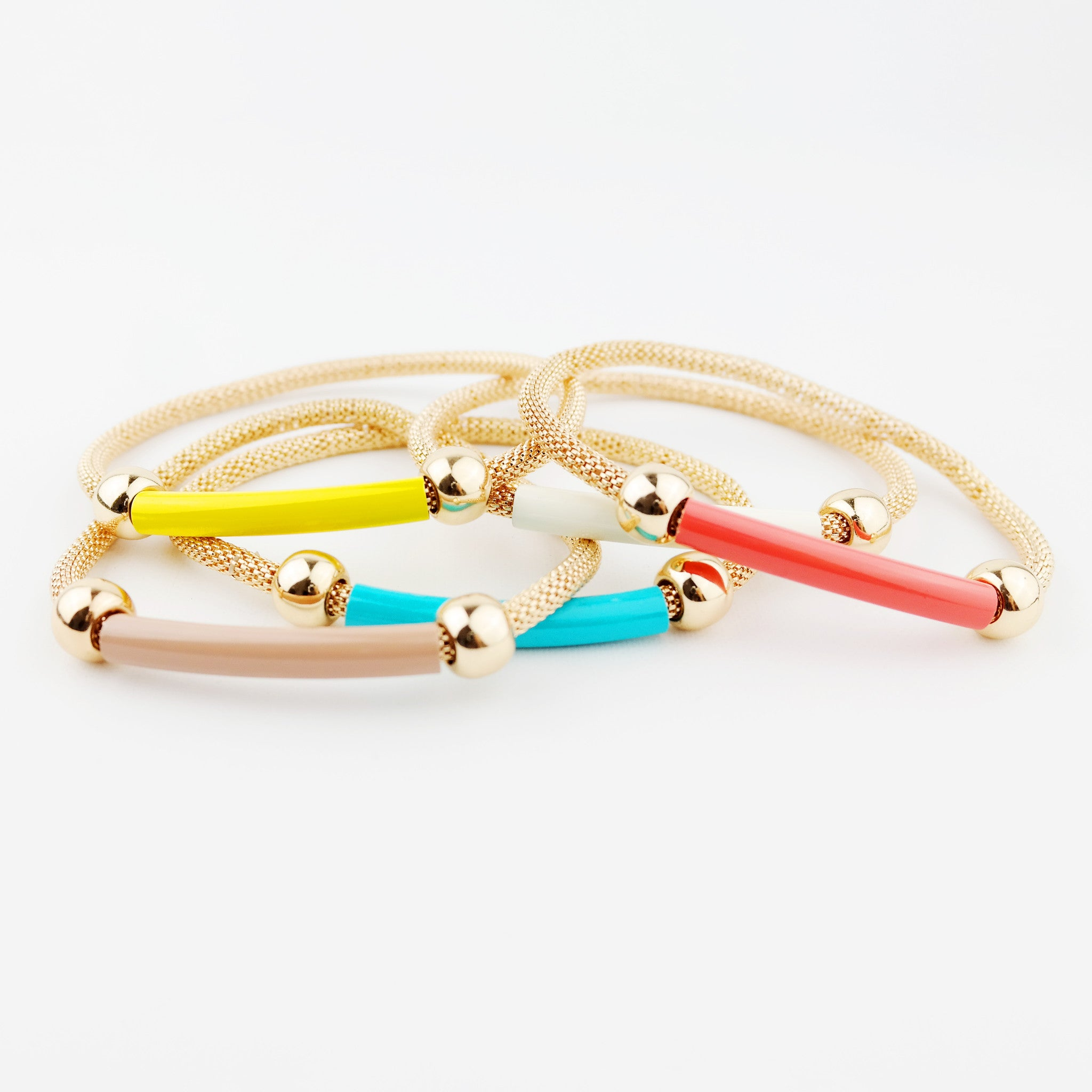 Multi Color Stretch Bracelet - hoopsbaby.com