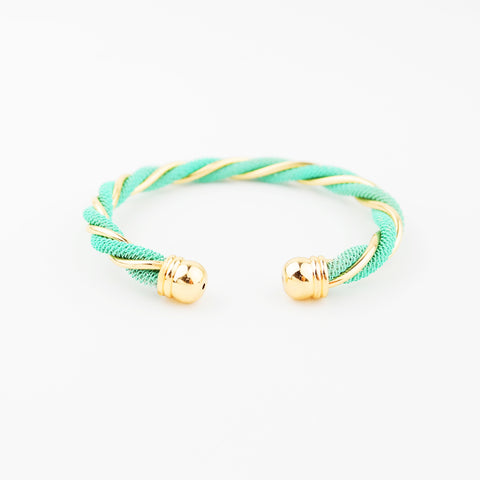 Twisted Gold & Mint Cuff