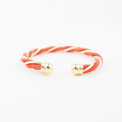Twisted Gold & Coral Cuff - hoopsbaby.com