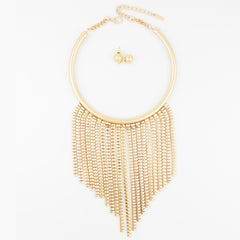 Gold Statement Necklace - hoopsbaby.com - 1