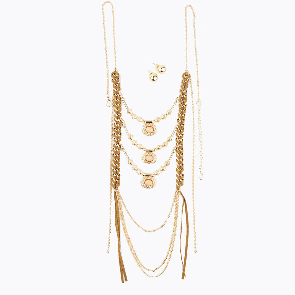 Boho Long Necklace - hoopsbaby.com