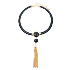 Metal Tassel Necklace - hoopsbaby.com
