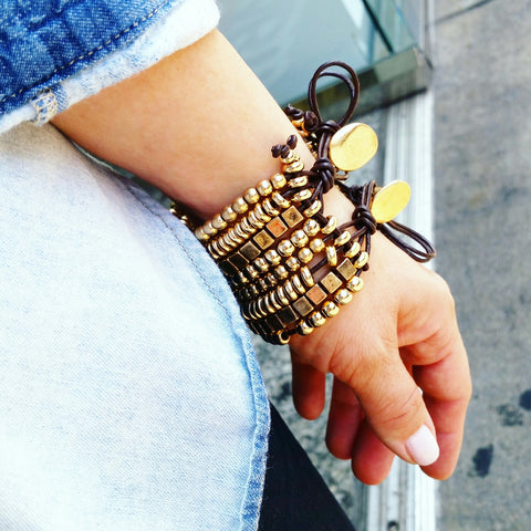 Leather & Metal Bracelet