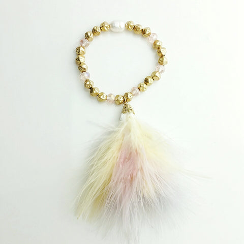 Feather & Crystal Bracelet