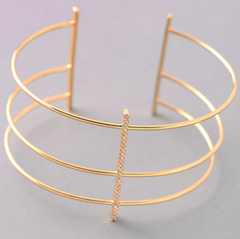 Three Wire Cuff Bracelet