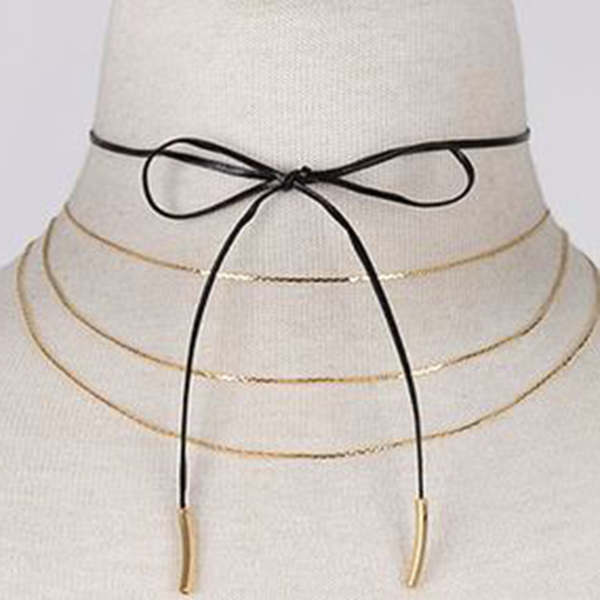 Tie Up Triple Layered Bella Choker