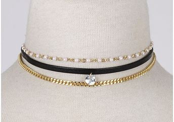 Choker Trio Black