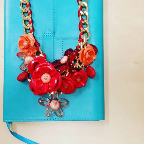 Mixed Spring Flowers Statement Necklace