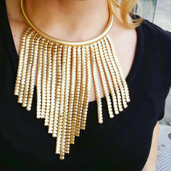Gold Statement Necklace - hoopsbaby.com - 2