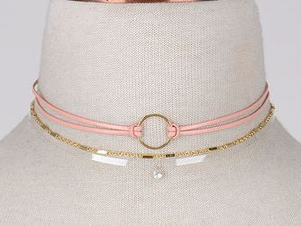 Choker Trio in Pink