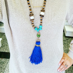 Wooden Beads Necklace - hoopsbaby.com