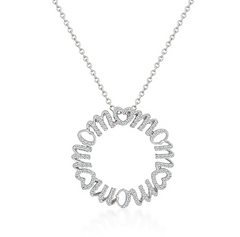 Mom's Love Mandala CZ Necklace - hoopsbaby.com - 1
