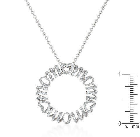 Mom's Love Mandala CZ Necklace