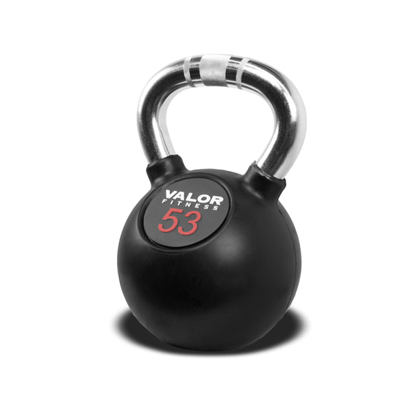 Valor Chrome Kettlebells with Knurled Grip Handle