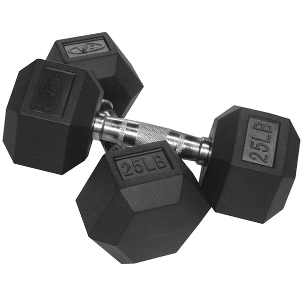 Valor Rubber Hex Dumbbells