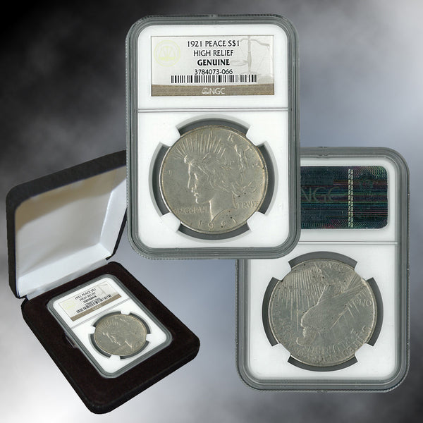 1921 Peace Dollar NGC High Relief