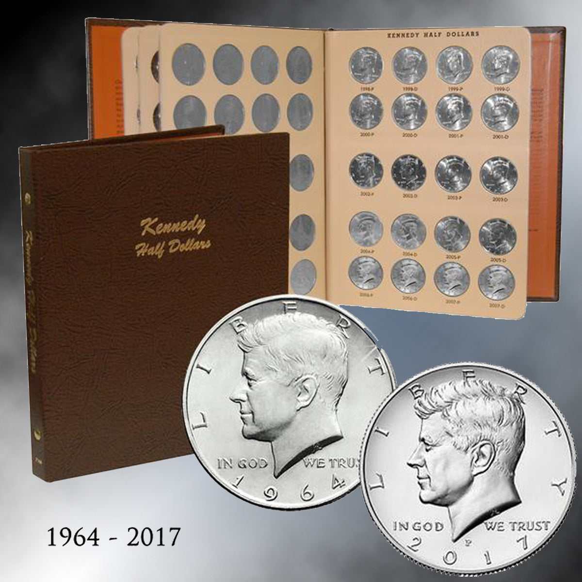 1964 - 2017 JFK Half Dollars in Dansco Album