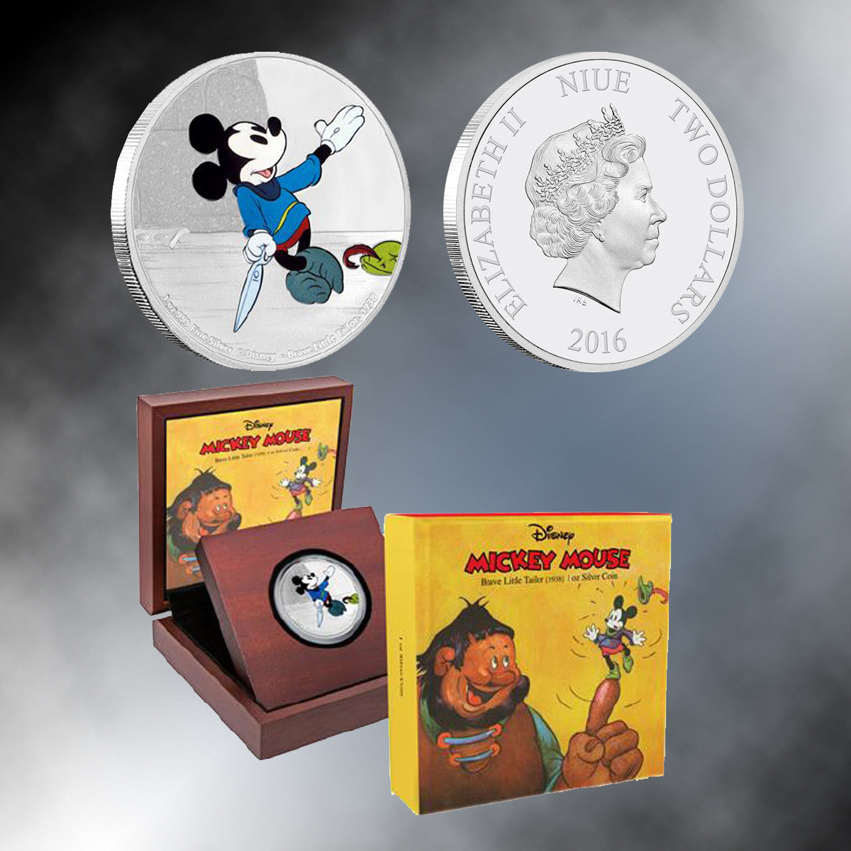 Mickey Through The Ages:  2016 Brave Little Tailor 1 Oz Silver Coin