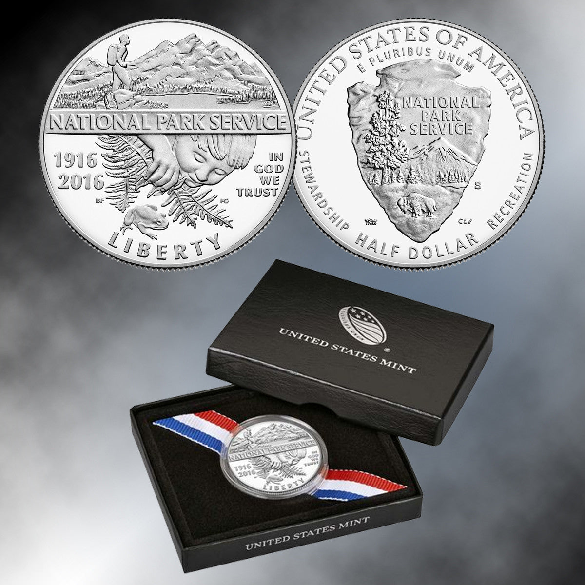 100th Anniversary of the National Park Service 2016 Proof Clad Half Dollar