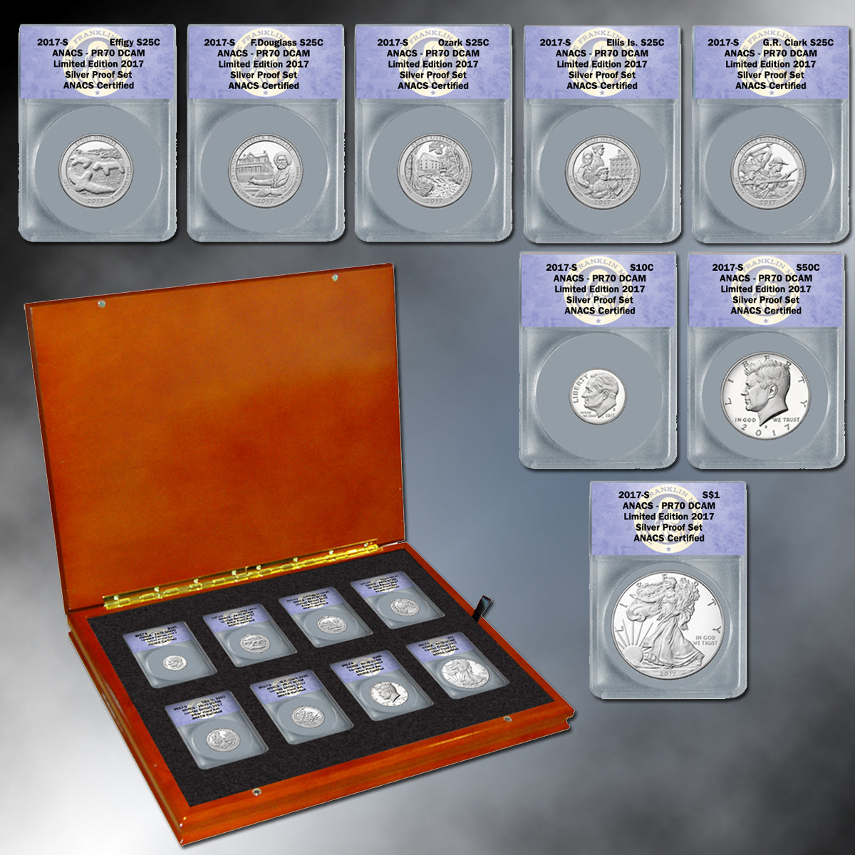 2017 8pc Silver Proof Set PR70