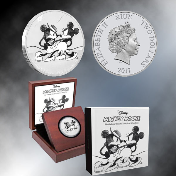 Mickey Through The Ages:  2017 The Gallopin' Gaucho 1 Oz Silver Coin