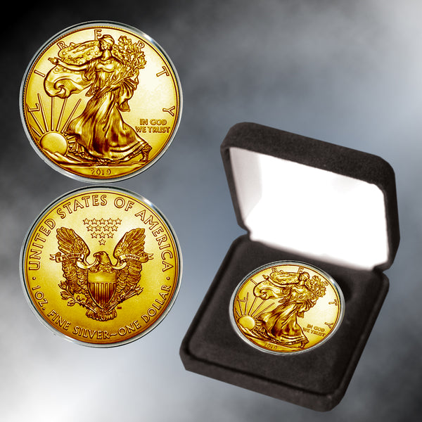 2019 24K Gold Plated Silver Eagle