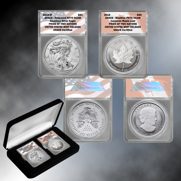 "Pride of Two Nations 2019 Limited Edition Two-Coin Set  Graded ""70"""